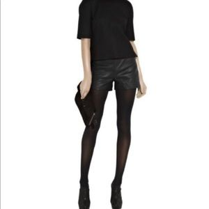 Theory Iselin Leather Shorts